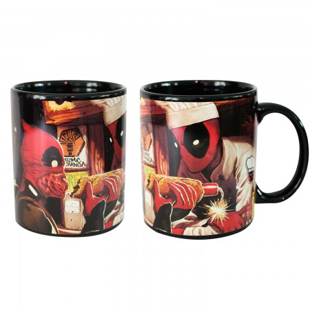 Deadpool Black Heat Reveal Mug