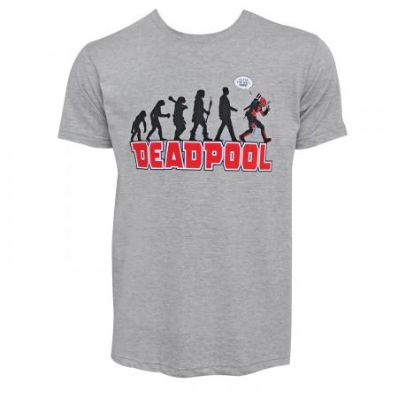Deadpool Evolution Men's Grey T-Shirt