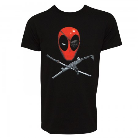 Deadpool Eyepatch Men's Black T-Shirt
