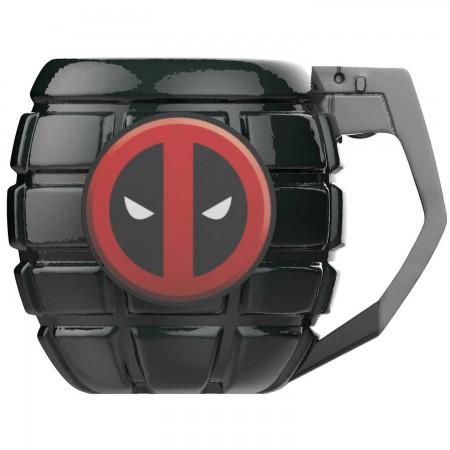 Deadpool Ceramic Grenade Mug