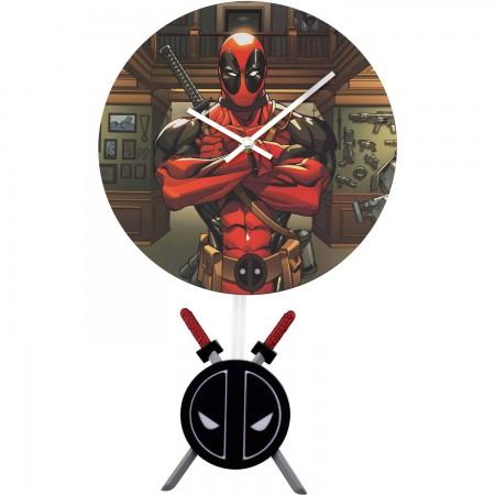 Deadpool Swinging Pendulum Wall Clock