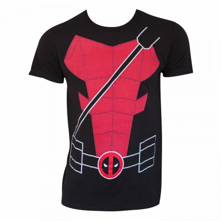 Deadpool Men's Black Suit Up Costume T-Shirt