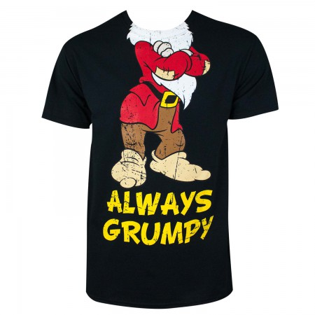 Disney Snow White Men's Black Always Grumpy T-Shirt