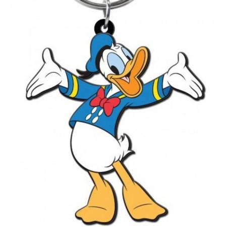 Donald Duck PVC Soft Touch Keychain