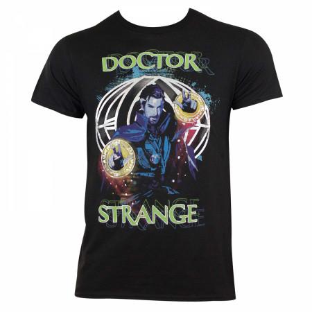 Dr. Strange Men's Black Iridescent Foil Witching Hour T-Shirt