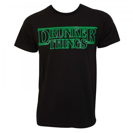 Drunker Things Men's Black St. Patrick's Day T-Shirt