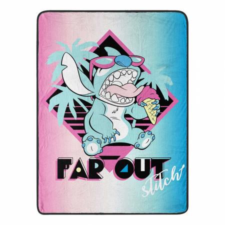 """Lilo and Stitch 46""""x 60"""" Micro Raschel Throw Blanket"""