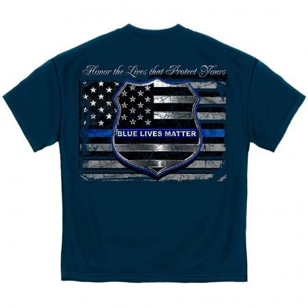 Police Cops Blue Lives Matter T-Shirt
