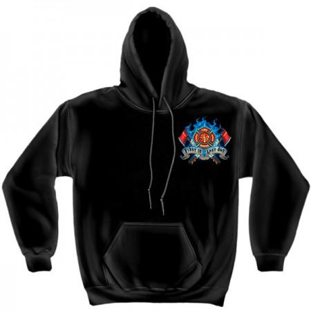 USA Fire Department Black Graphic Hoodie Sweatshirt FREE SHIPPING