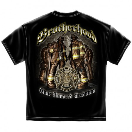 Firefighter Time Honored Tradition Shirt - Black