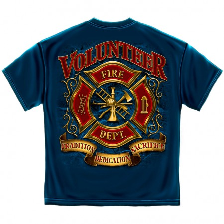 Volunteer Fire Department Shirt - Blue