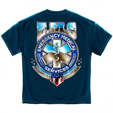 EMS On Call For Life Shirt - Blue
