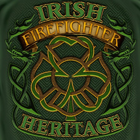 Firefighter St Thin Red Line T-Shirt USA Fireman American Flag Outfit Apparel Patrick/'s Day Green Shirt