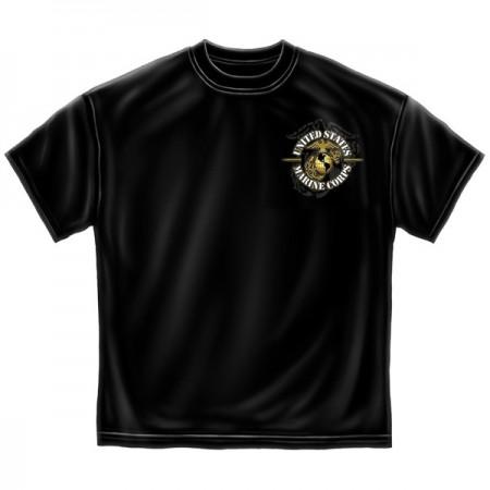 Marine Corps Never Retreat USA Patriotic Black Graphic T-Shirt