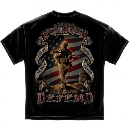 American Soldier Shirt - Black