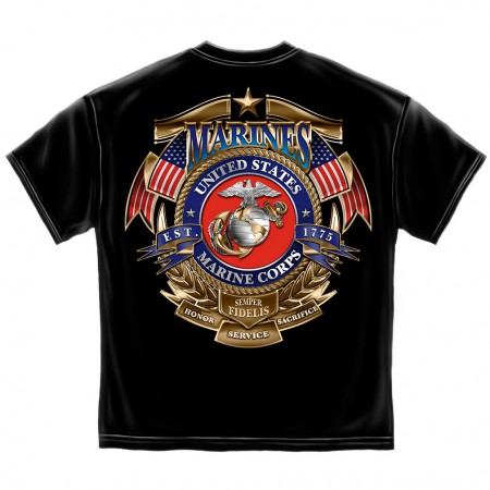 Gold Shield Marines Shirt - Black