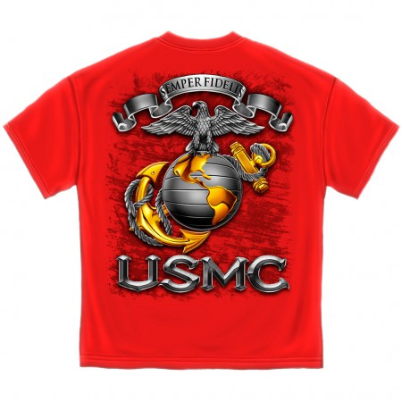 USMC Globe Shirt - Red