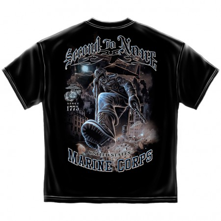 Marines Second to None Shirt - Black