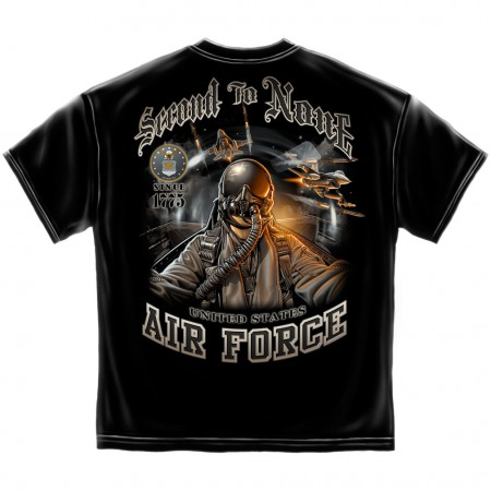 Air Force Second to None Shirt - Black