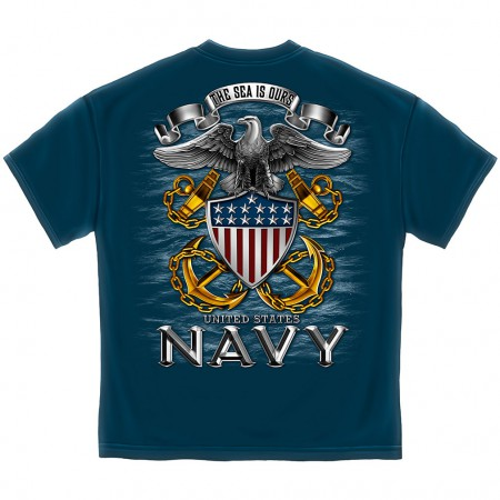 The Sea is Ours US Navy Shirt - Blue