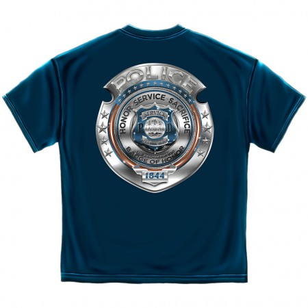 Police Badge of Honor Shirt - Blue
