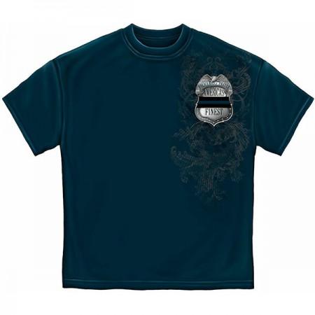 Blue Policeman's Prayer Men's T-Shirt