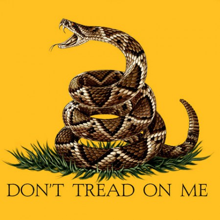 Don't Tread On Me USA Patriotic Yellow Long Sleeve Graphic TShirt