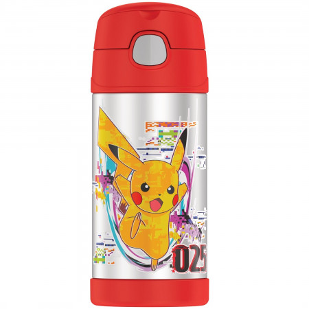 Pokemon Pikachu 12 Oz Thermos Bottle