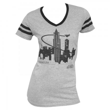 Fantastic Beasts Women's Grey Macusa T-Shirt