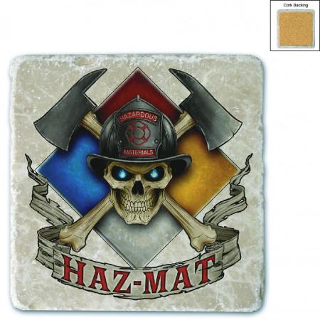 Firefighter Haz Mat Stone Coaster