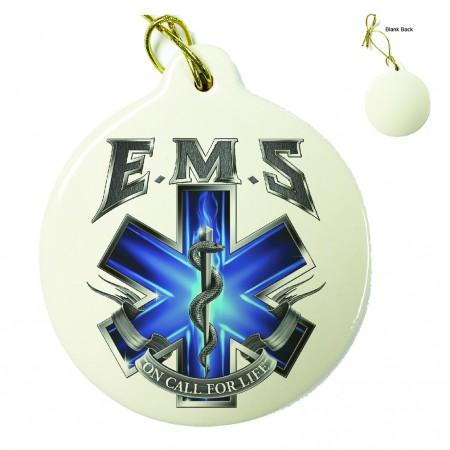 On Call For Life EMS Porcelain Ornament