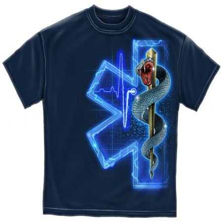 Emergency Medical Services First Responder Men's Navy Blue T-Shirt