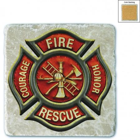 Firefighter Classic Fire Maltese Stone Coaster