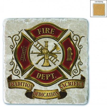 Volunteer Firefighter Stone Coaster