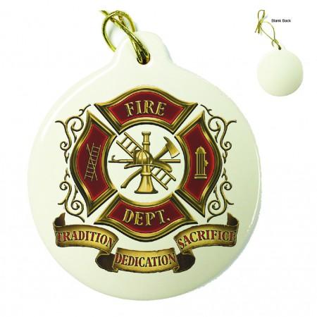 Volunteer Firefighter Porcelain Ornament