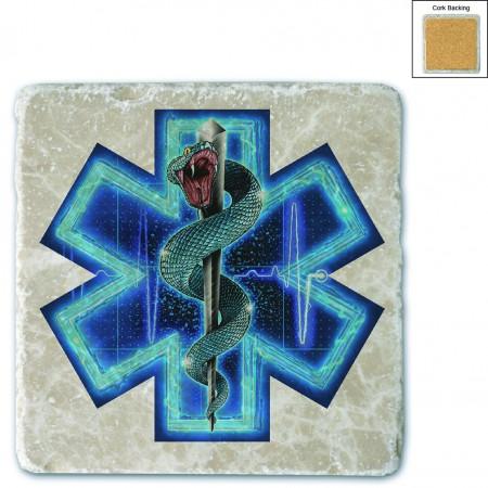 Silver Snake EMT Full Stone Coaster