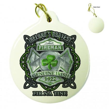 Firefighter Garda Ireland's Bravest Porcelain Ornament