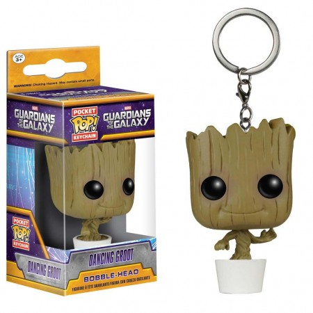 Guardians Of The Galaxy Funko Pop Dancing Groot Pocket Keychain