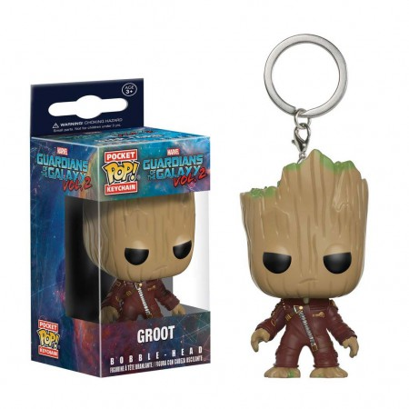Guardians Of The Galaxy Funko Pop Groot Pocket Keychain