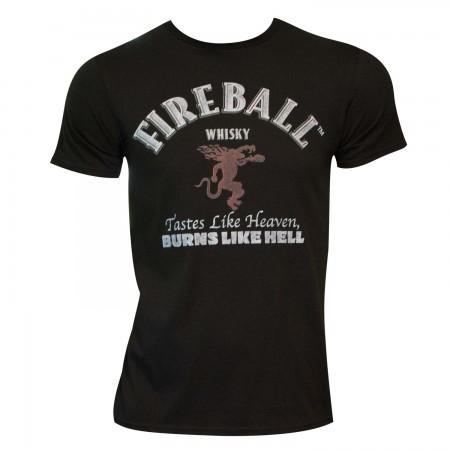 Men's Fireball Black Text Label T-Shirt