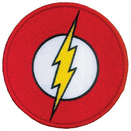 Flash Comic Logo Iron On Patch