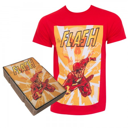 The Flash Men's Red Corrugated Boxed T-Shirt