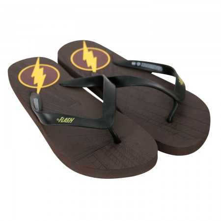 The Flash Men's Brown Flip Flops
