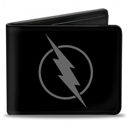 The Flash Reverse Logo Black Rubber Wallet