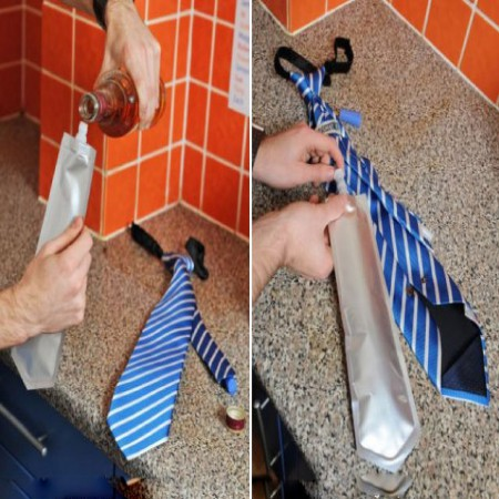 Red And Blue Flask Tie