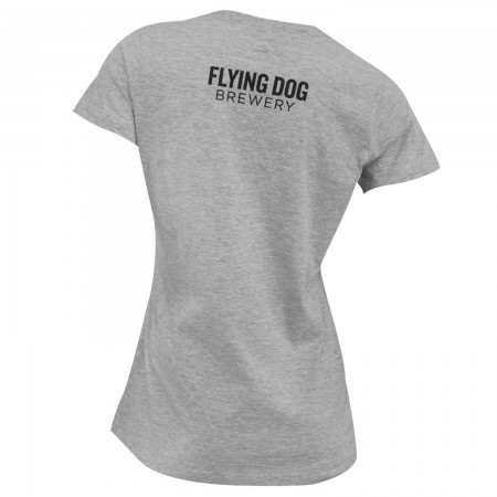 Flying Dog Batwing Logo Women's Grey T-Shirt