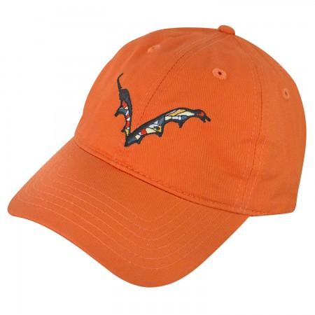 Flying Dog Batwing Logo Orange Dad Men's Hat