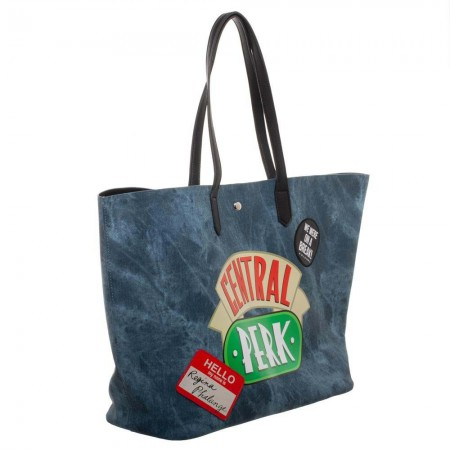 Friends Central Perk Blue Tote Bag