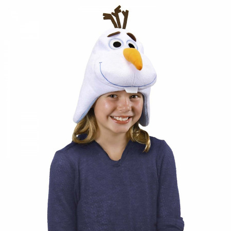 Frozen Olaf White Youth Winter Hat