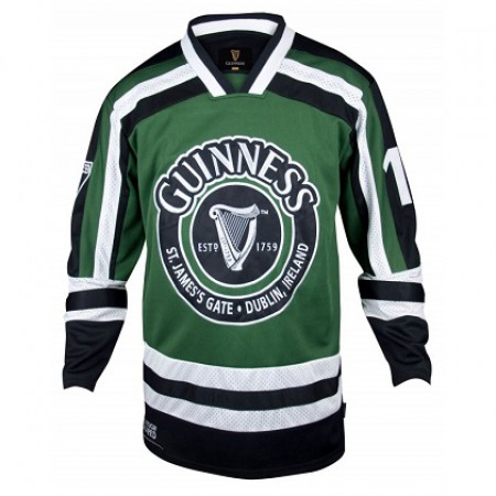 Guinness Harp Logo Hockey Jersey